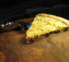 Clafoutis de courgettes aux olives et mozzarella
