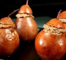 Poires farcies aux fruits secs