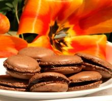 Macarons ganache chocolat-café