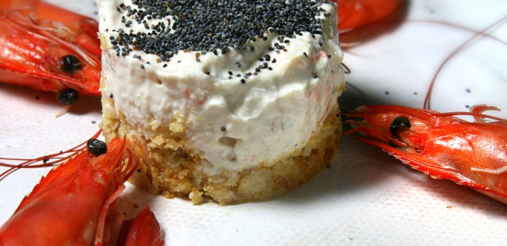 Cheesecake de crevettes