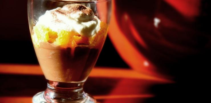 Cappuccino au chocolat et mandarines au poivre de Séchuan