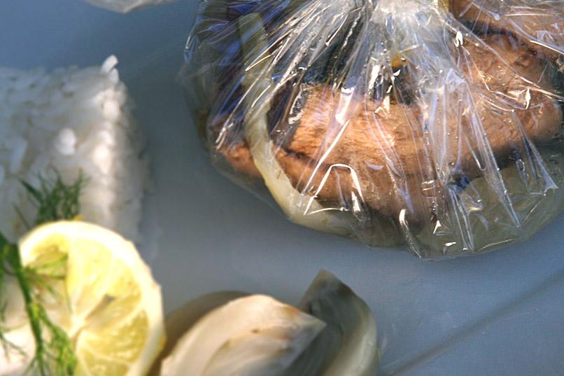 Papillotes de poulet au fenouil et citron
